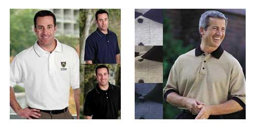 Union Made and Embroidered Polo or Golf Shirts